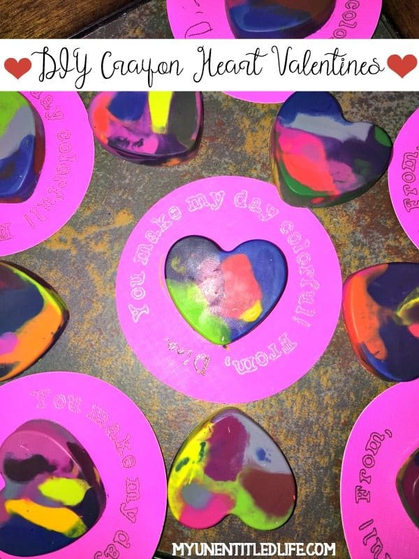 Are you looking for fun easy diy Valentine's Day cards? Why not do these cute DIY Crayon Heart Valentines!