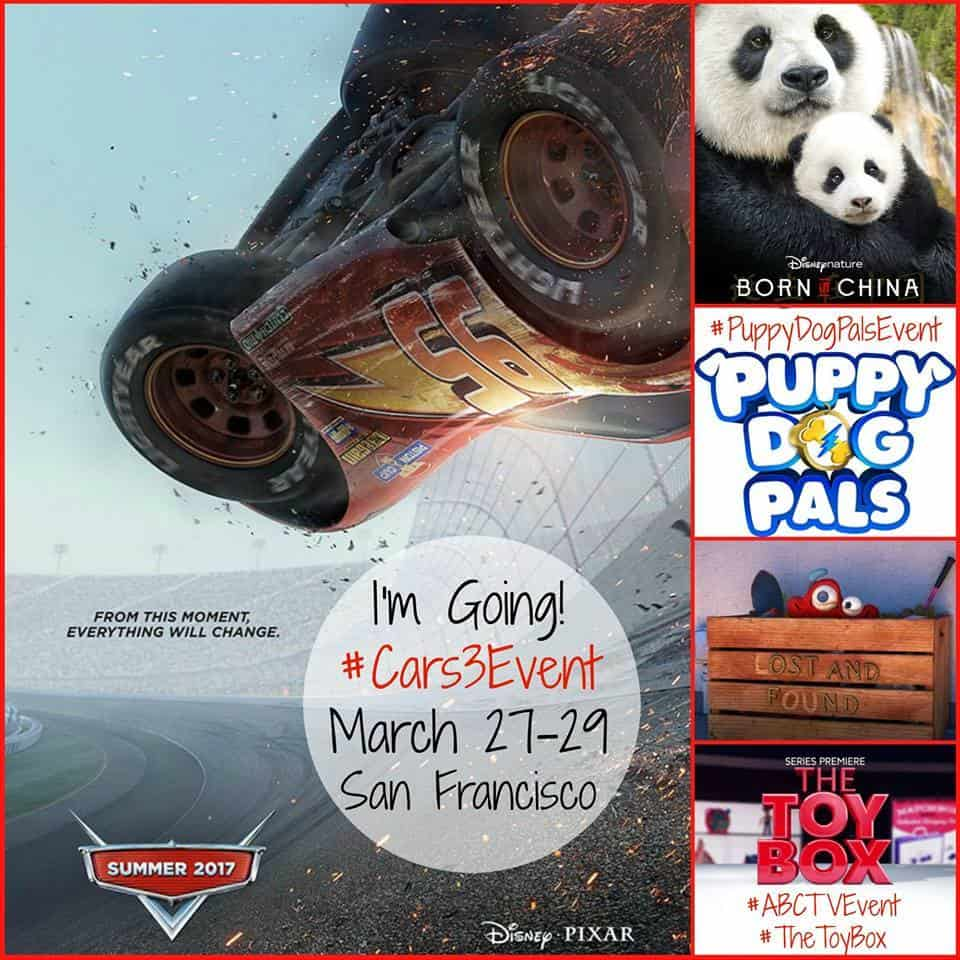 Follow along and learn with me about Cars 3, Born In China, Puppy Dog Pals, Lou and the Toy Box! You'll have fun. #Cars3Event