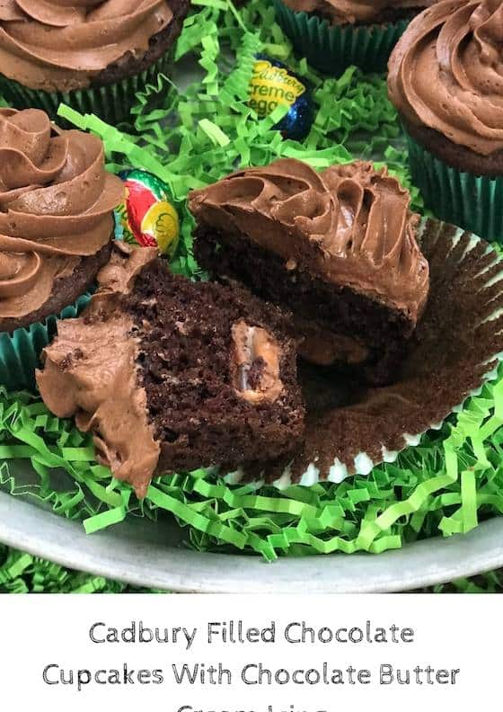 Delicious and chocolatey makes this one a hit for a great cupcake recipe.  See our Cadbury Filled Chocolate Cupcakes With Chocolate Buttercream Icing.