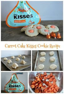Carrot Cake Kisses Cookies #12daysof