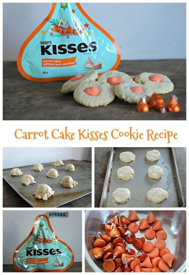 carrot cake kiss cookies