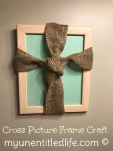 Picture Frame Cross Craft