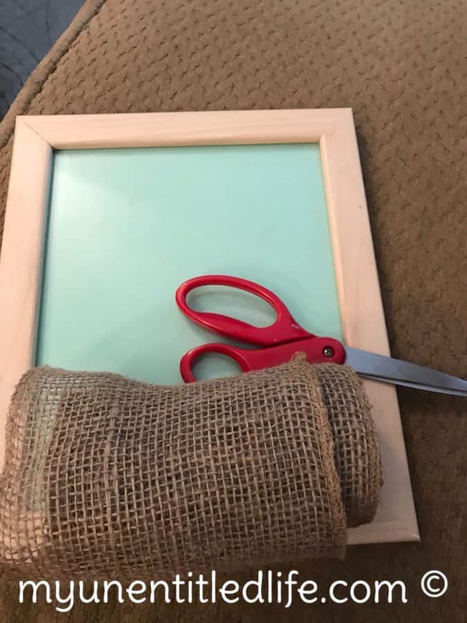 cross picture frame craft