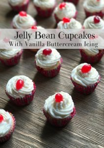 Jelly Bean Cupcake with Buttercream Vanilla Frosting #12daysof