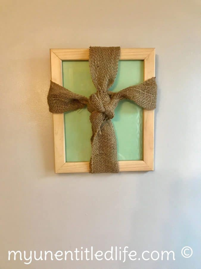 rustic cross picture frame craft for easter