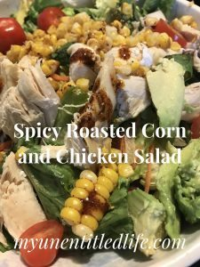 Spicy Roasted Corn and Chicken Salad Recipe #ad #SunshineSweetCorn #IC
