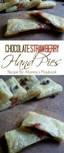 Chocolate Strawberry Hand Pie Recipe #12daysof