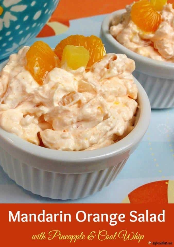 Mandarin Orange Salad Recipe with Pineapple and whipped topping