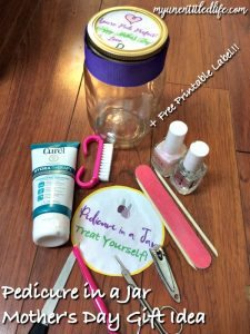 mother's day gift idea pedicure in a jar