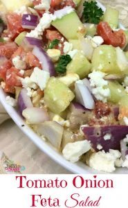 Tomato Onion Feta Salad Recipe #12daysof