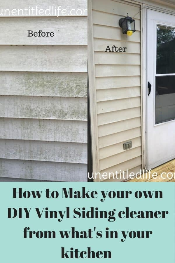 How To Make Your Own Diy Vinyl Siding Cleaner