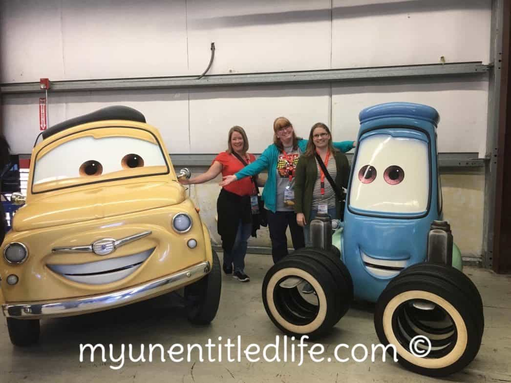 Pit Stop Crew with Luigi and Guido at Cars 3 event