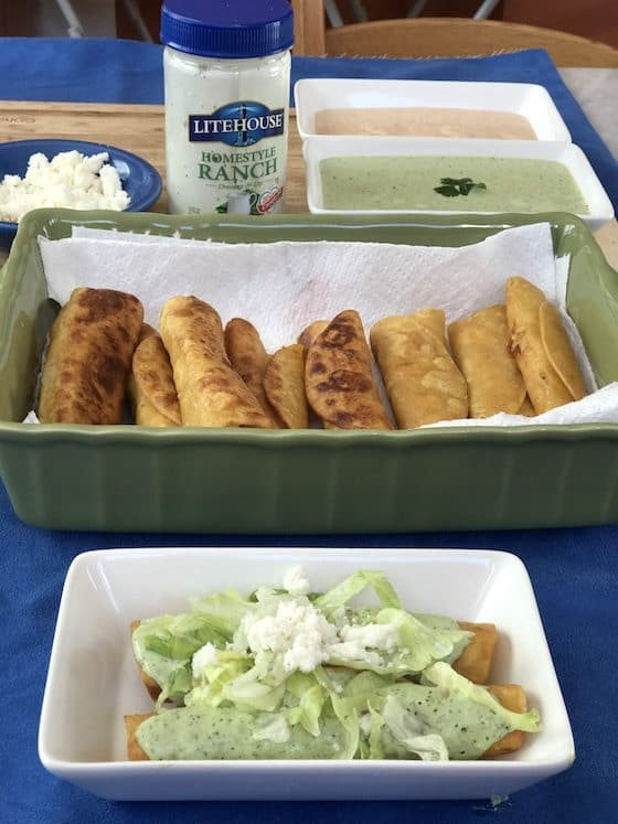 chicken taquitos