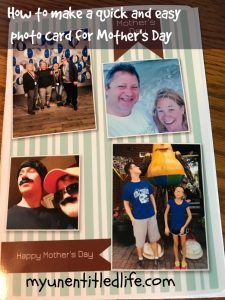 How to Make a Quick and Easy Mother's Day Photo Card