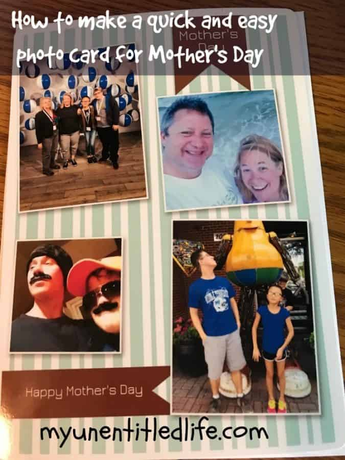 quick and easy photo card for mothers day