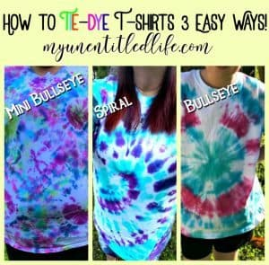 How to Tie-Dye T-Shirts 3 easy ways!