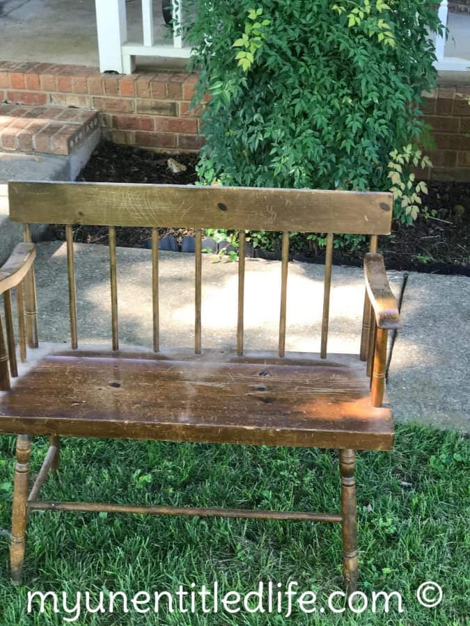 how to sand and paint a piece of furniture before pic