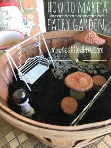 how to make a fairy garden for your front porch or back deck