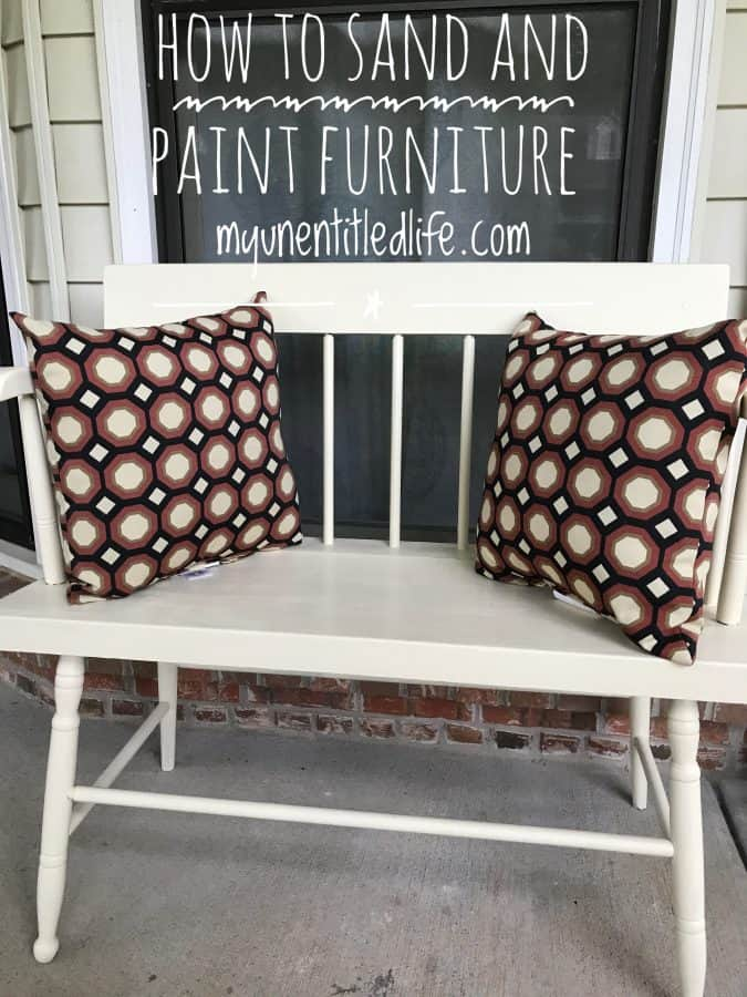 how to sand and paint furniture for outside
