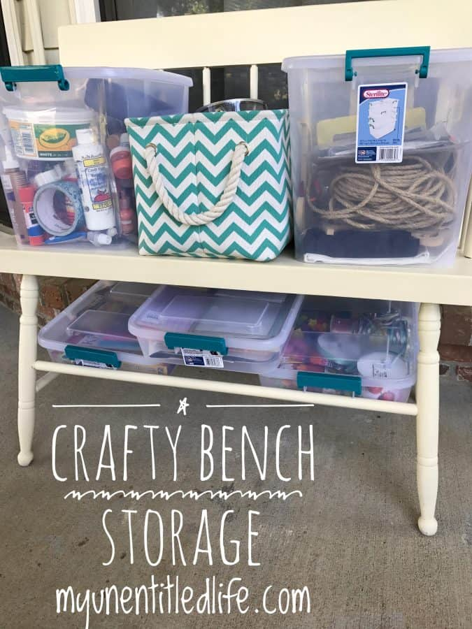 crafty bench storage