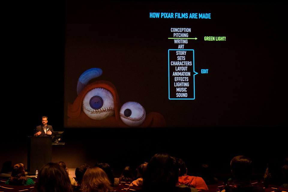 Learning how shorts are made at Pixar