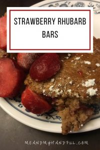 Strawberry Rhubarb Bars recipe #12daysof