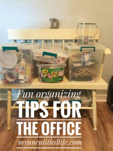 Fun organizing ideas for the office