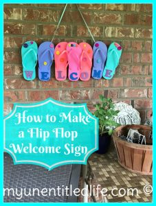 How to make a Flip Flop Welcome sign