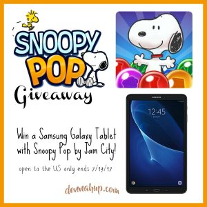 Snoopy Pop Samsung Tablet Giveaway 7/19 US