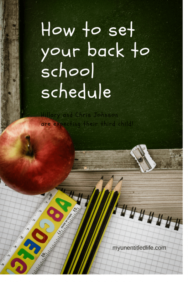 how to set your back to school schedule