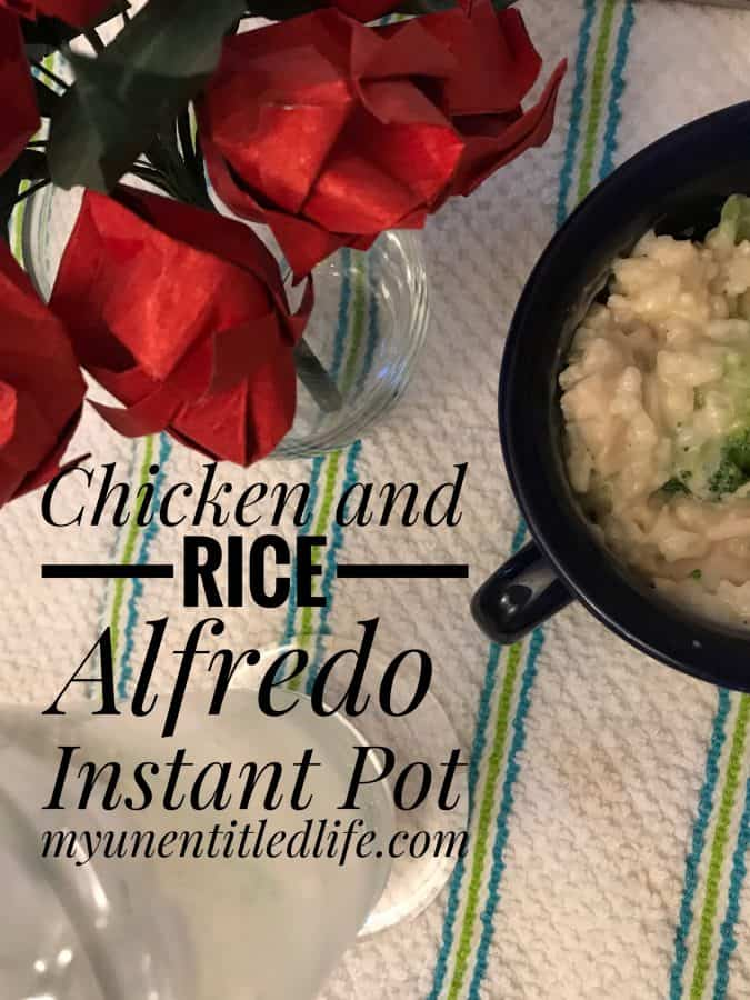 Chicken Rice Alfredo Instant Pot recipe