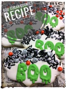 Boo Halloween sugar cookies recipe