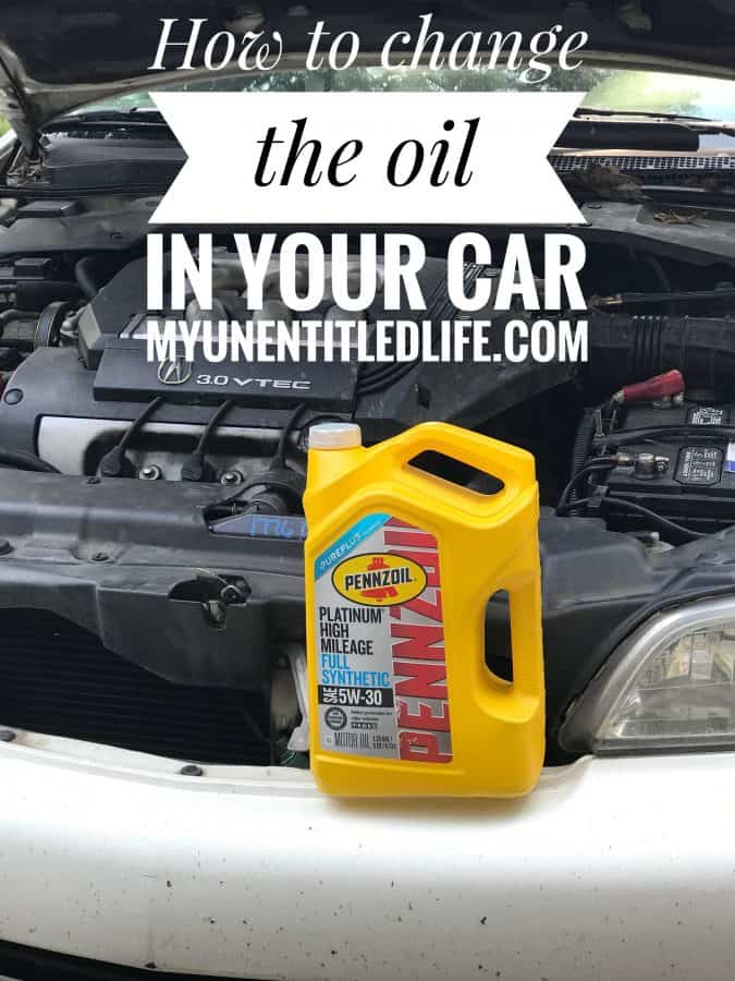 how to change the oil and oil filter in your car