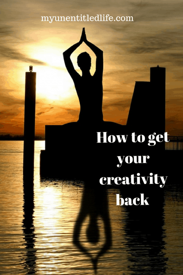 If you use creativity in your daily life at some point it just leaves you. Here's a how to on how to get your creativity back.