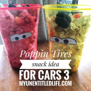 cars 3 poppin tires viewing party snack