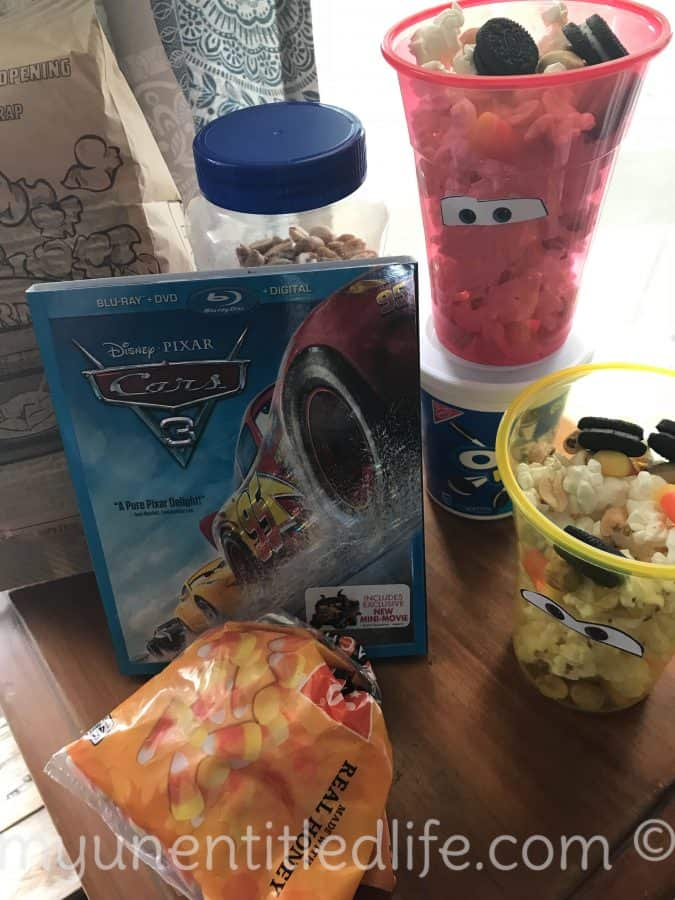 cars 3 snack idea ingredients