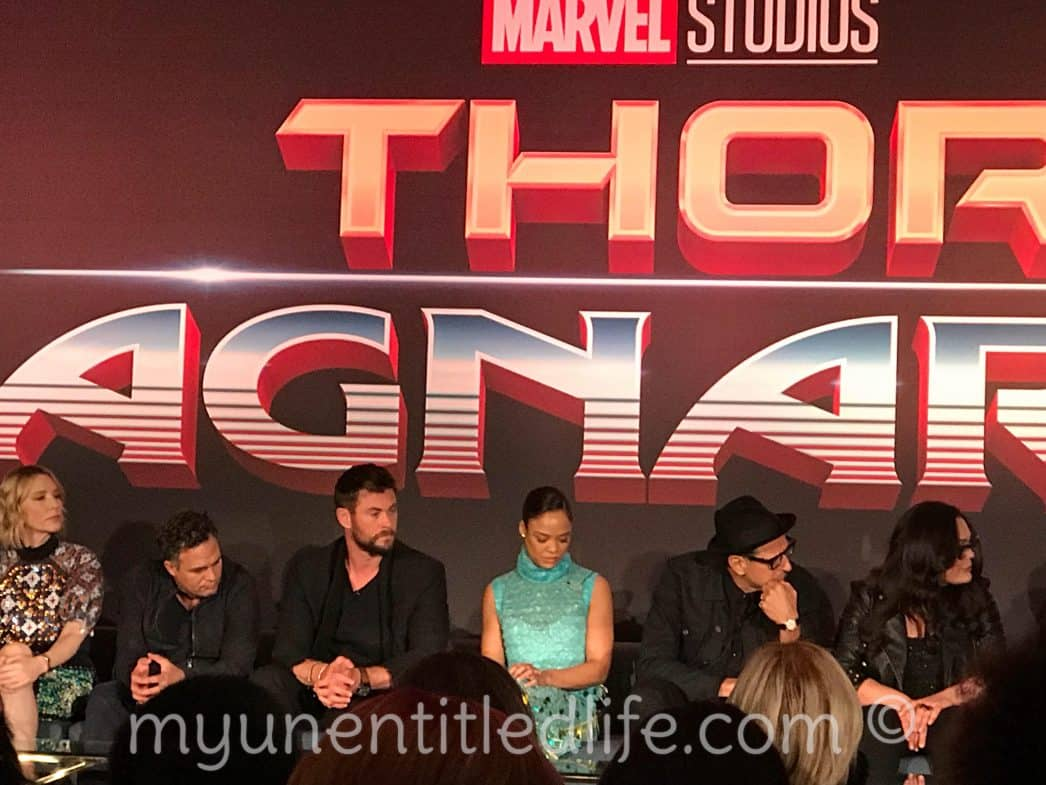 Interviewing the cast of Thor:Ragnarok at the Press Conference