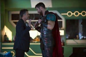 chris hemsworth and director on Thor set
