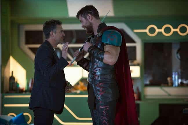 chris hemsworth and director on Thor set