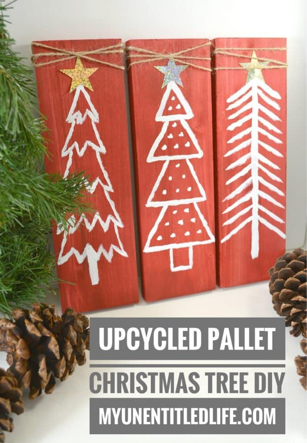 Upcycled Pallet Christmas Tree Decor