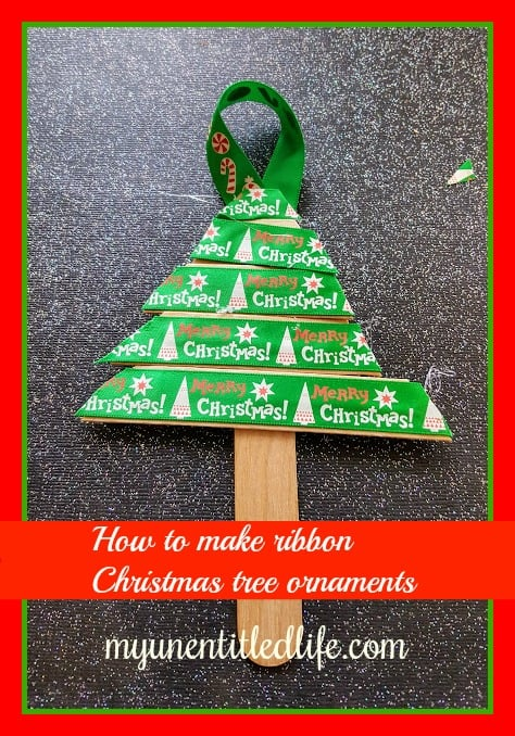 How to make Ribbon tree ornaments