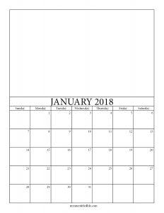 free 12 month calendar January 2018 calendar