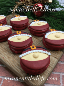 Santa Belly Oreos a fun Santa snack idea