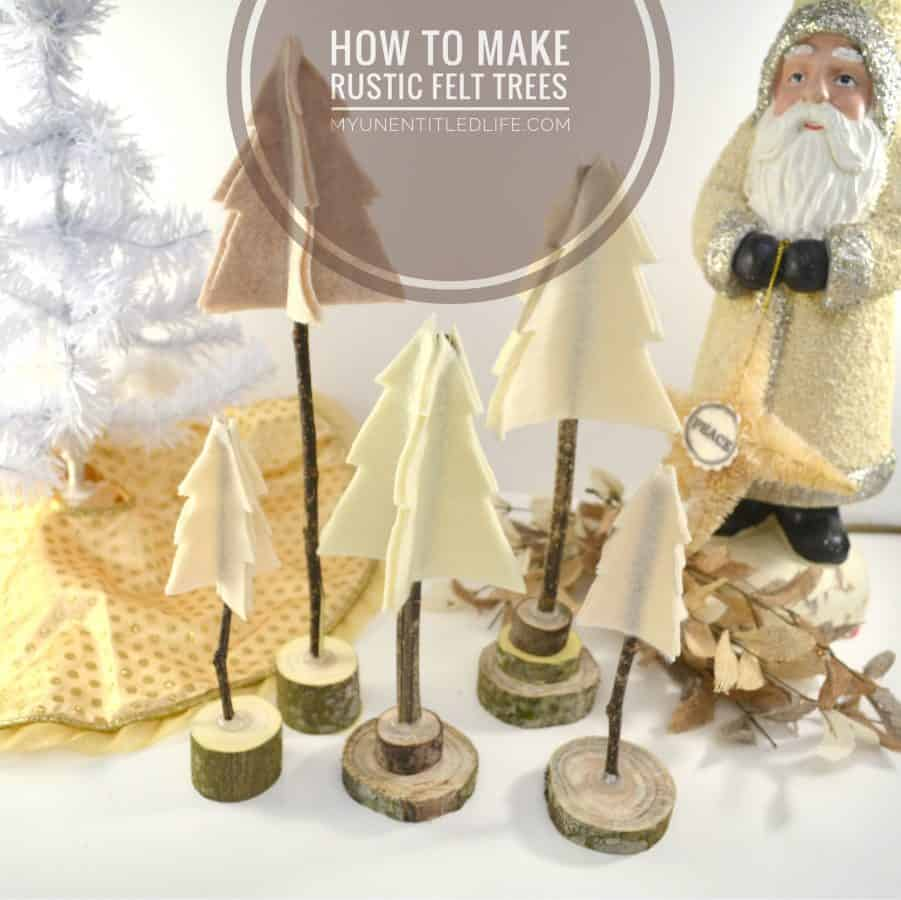 Rustic Christmas Tree Craft and DIY tutorial
