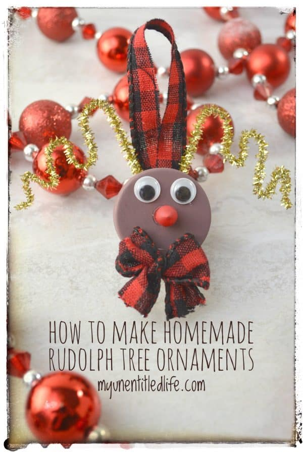 How to make homemade Rudolph ornaments
