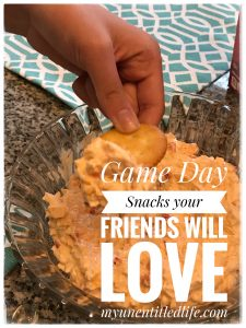 Game Time Snack ideas for football and friends + pimento cheese dip recipe