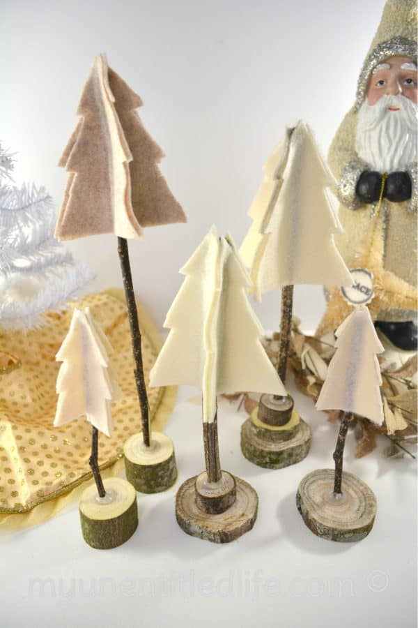 rustic trees christmas craft