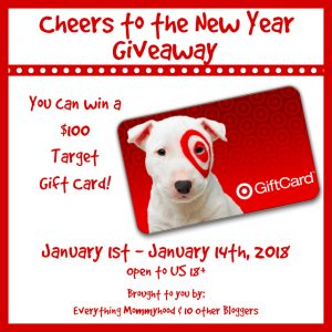 Cheers to the new you $100 Target giveaway