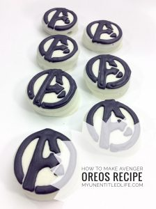Avenger Dessert recipe fun for kids parties
