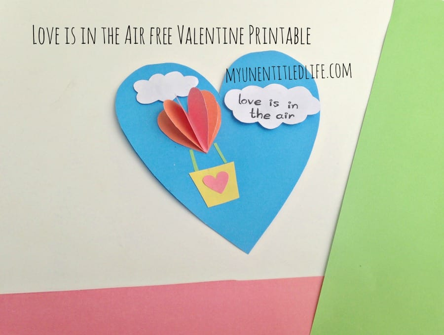 photograph about Printable Valentines Craft referred to as Appreciate is within just the air totally free valentine printable